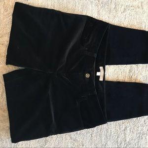 Black velvet dress pants
